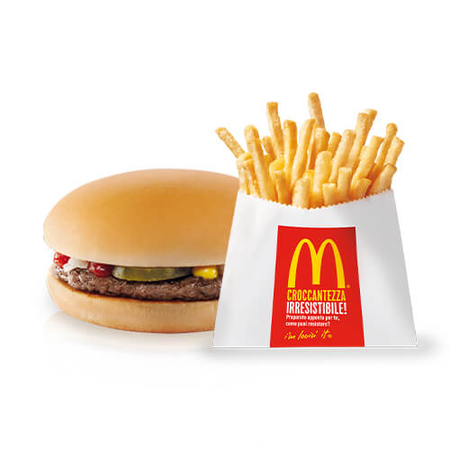 Happy Meal Hamburger e Patatine