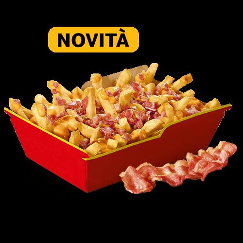 Le Ricche Fries Cheese&Bacon con extra bacon